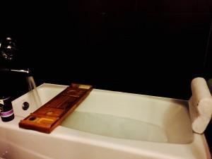 Hot bath.